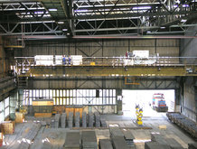 Process Crane in a Steelwork [Power supply for lifting magnet]
